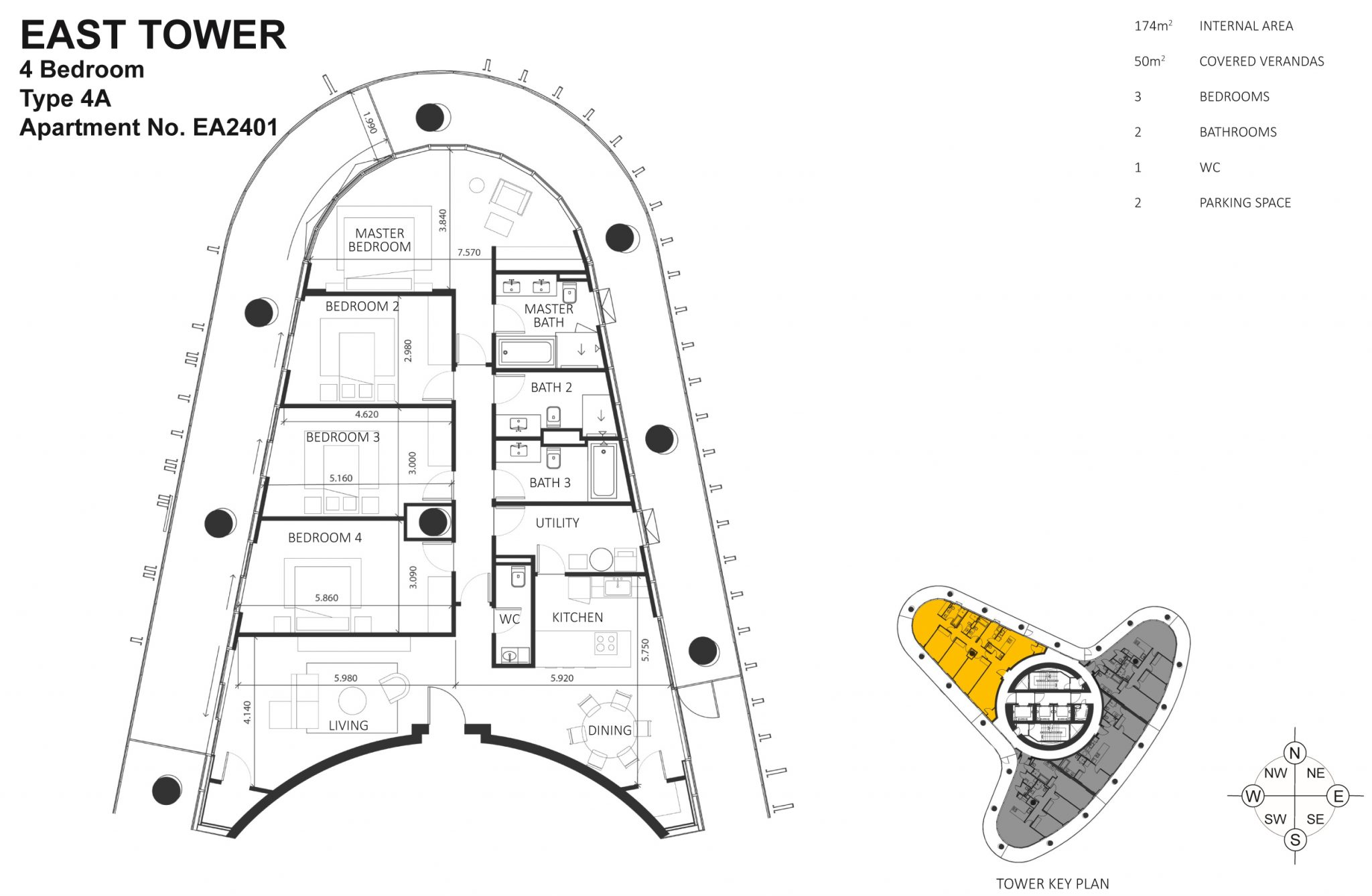 1563 - 4 Bedroom Apartment - Ayia Napa Marina floorplan