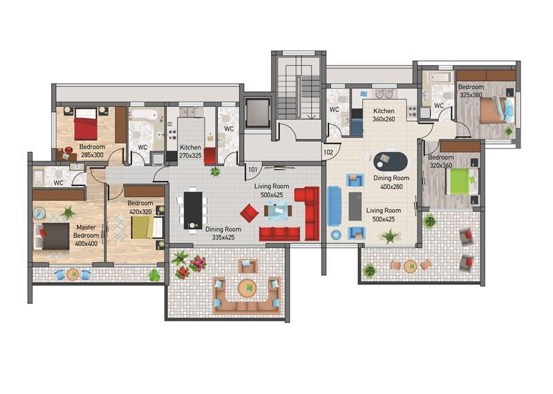 3 bedroom apartment agios tychonas aphrodite property for Apartment block floor plans