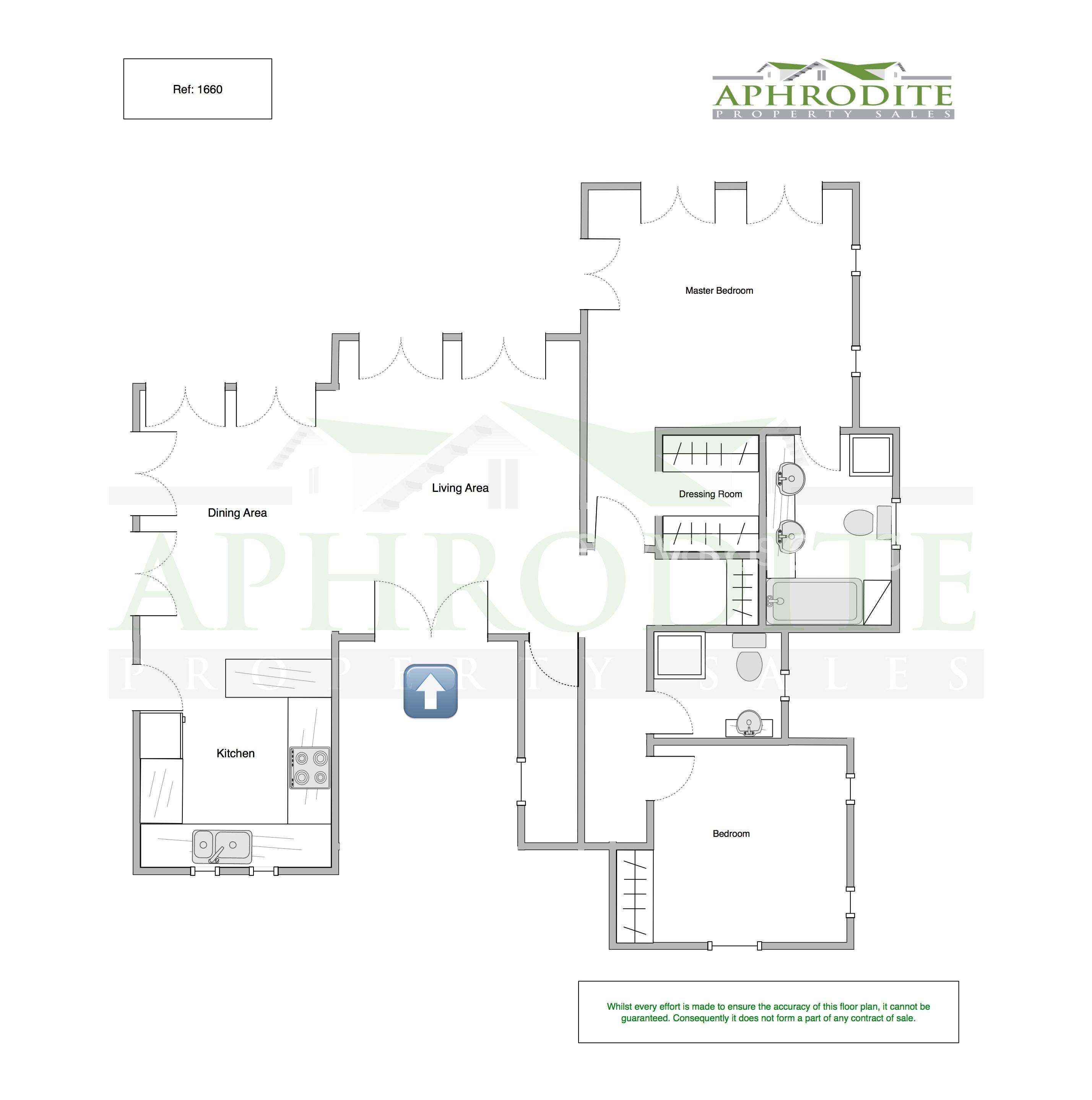 1660 - Two bedroom villa - Aphrodite Hills floorplan