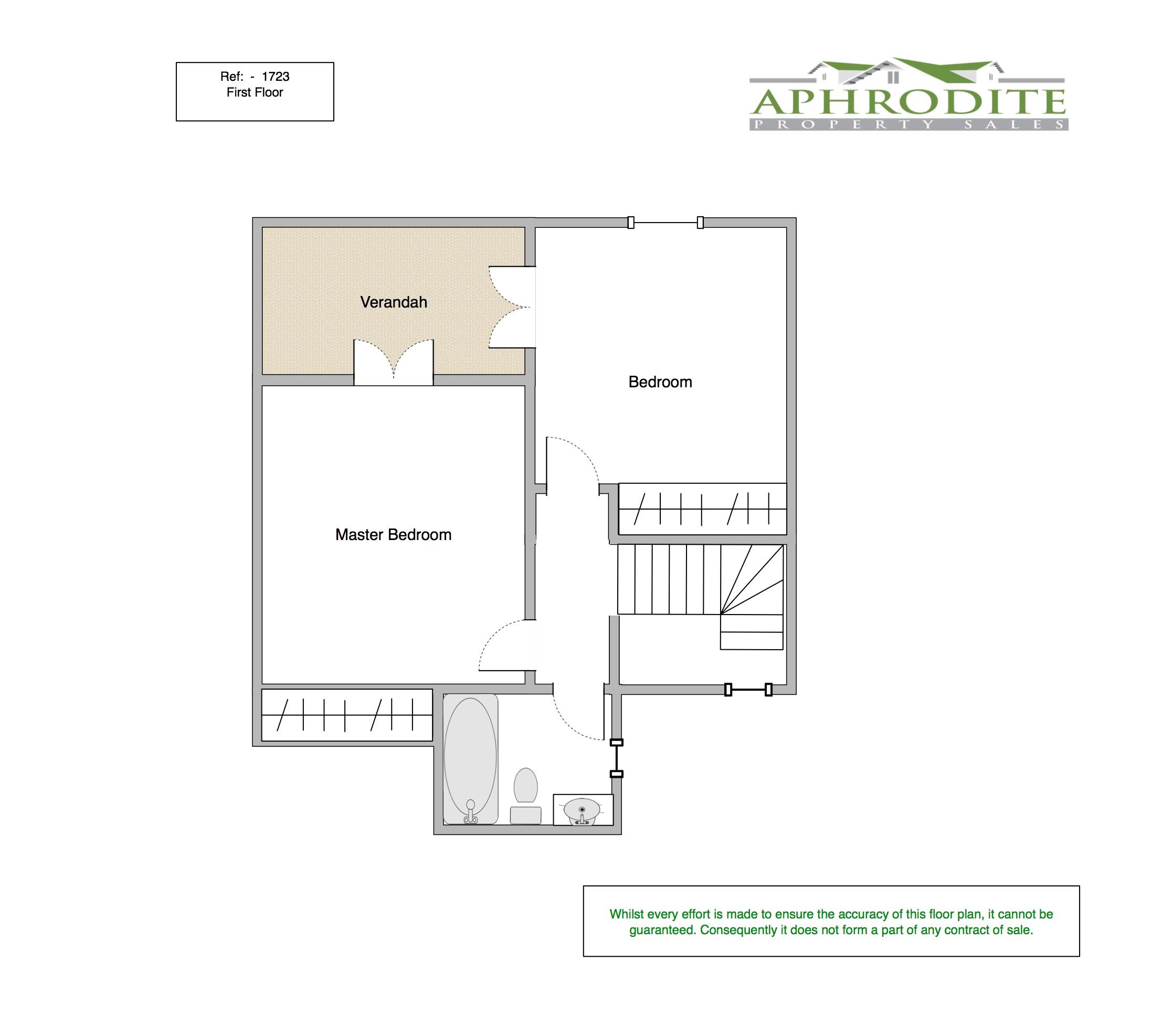 1723 - 2 Bedroom Junior Villa - Adonis Village - Aphrodite Hills floorplan 2