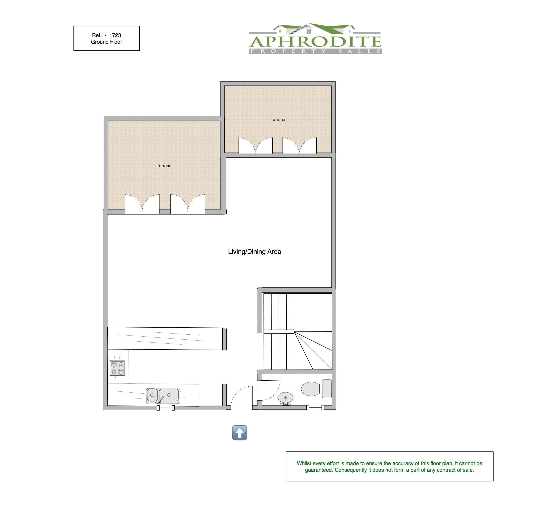 1723 - 2 Bedroom Junior Villa - Adonis Village - Aphrodite Hills floorplan